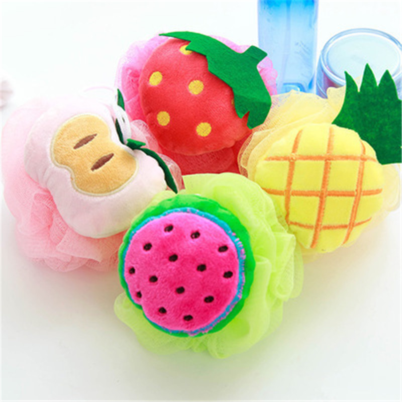 Cotton Baby Bath Brush Cartoon Soft Baby Bath Sponge Powder Puff Cute Children Newbron Infant Shower Product Rubbing Towel Balls