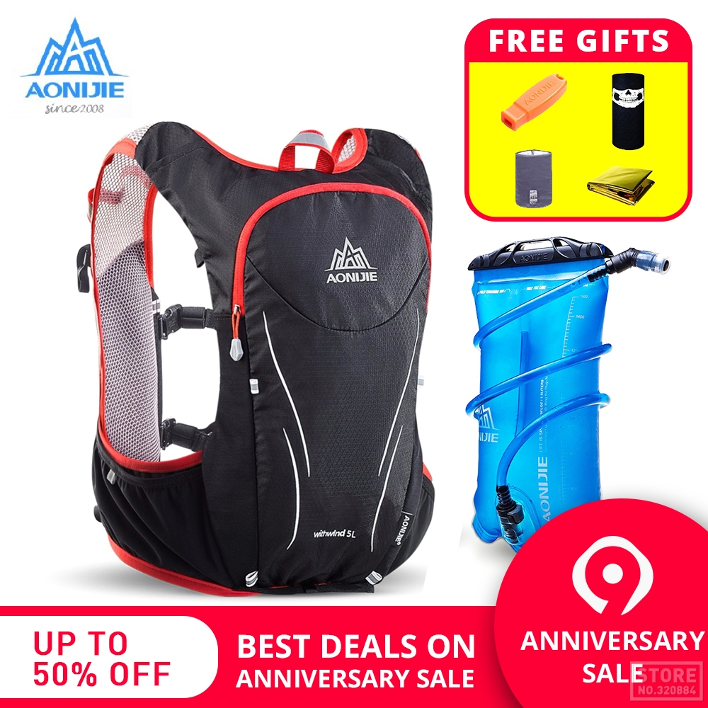 70877a14dc AONIJIE Outdoor Sports Trail Running Backpack 5L Marathon Hydration Vest  Pack For 1.5L Water Bag Super Light Cycling Hiking Bag-in Running Bags from  Sports ...