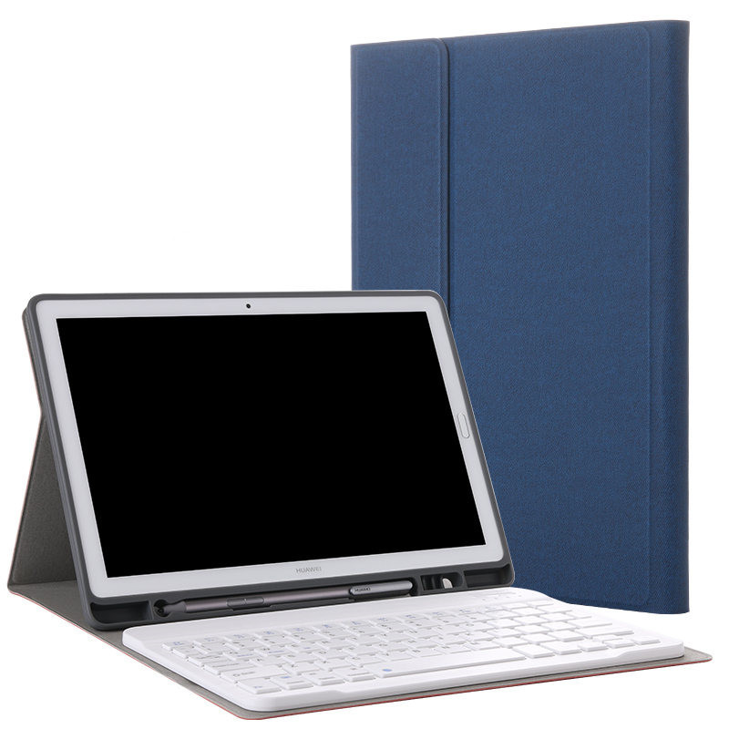 Wireless Bluetooth Keyboard PU Leather Cover Protective Case For Huawei MediaPad M5 10 8 M5 10