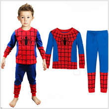 New Boys Pajamas Spiderman Superman Kids Infantil Pyjama Girl Sleepwear Toddler Fille Garcon Ensemble Pijama Menino Clothing Set
