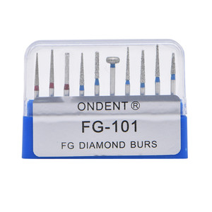 Image 5 - Dental elmas uç matkap diş Burs Dia Burs yüksek hızlı el aleti orta FG105 106 diş araçları diş hekimliği Lab