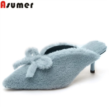 ASUMER 2020 new pumps shoes women pointed toe shallow slingback high heels shoes elegant prom wedding shoes women