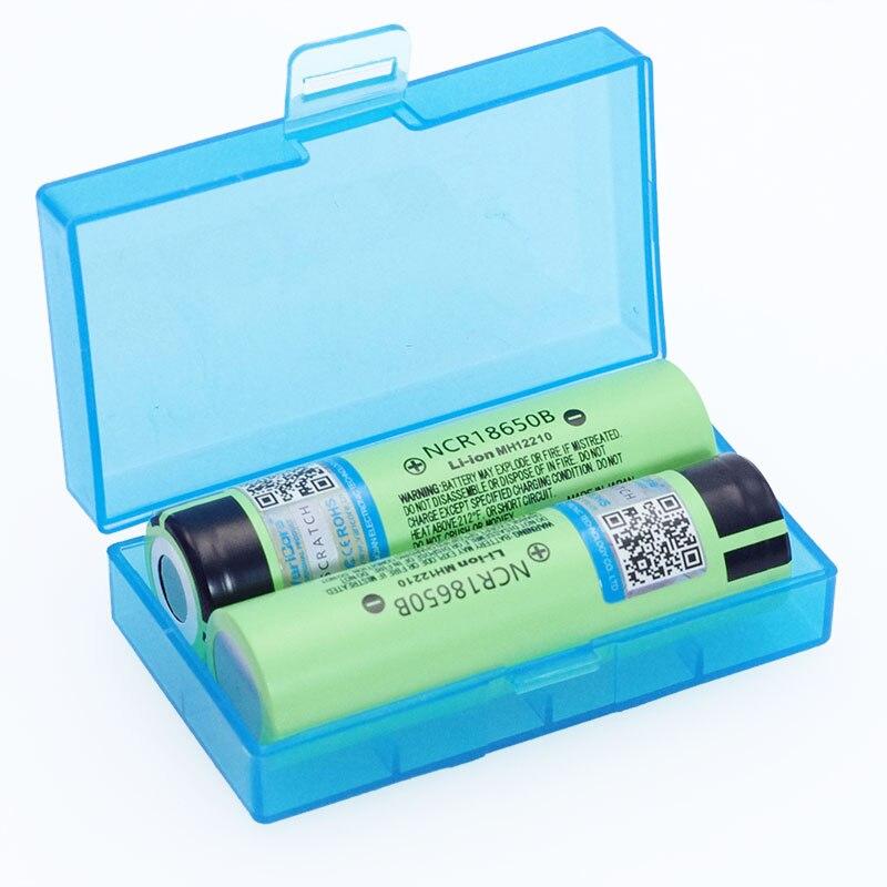 2 stücke VariCore Neue Original 18650 NCR18650B Lithium-ionen-akku 3,7 v 3400 mah Für Taschenlampe batterien + Lagerung box