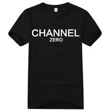D'été Célèbre Marque 100% Coton lettre imprimer fitness COCO CANAL FAUX CC homme t-shirts drôle t shirt hommes t-shirt camisa ras du cou(China (Mainland))