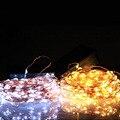 10 M 100 LEDs de Alambre de Cobre Luz de la Secuencia de Hadas de la Secuencia Solar Luces del Patio Constante de encendido/Flash Para La Boda Al Aire Libre Decoración de vacaciones