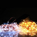 10M 100LEDs Solar String Light Copper Wire Fairy String Patio Lights Steady on/Flash For Outdoor Wedding Holiday Decoration