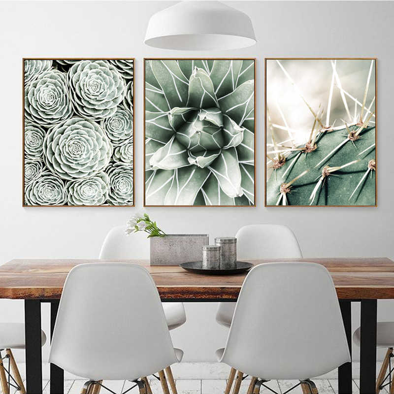 LZN Watercolor Plant Green Leaves Canvas Painting Art Print Poster Picture Wall Modern Minimalist Bedroom Living Room Decoration