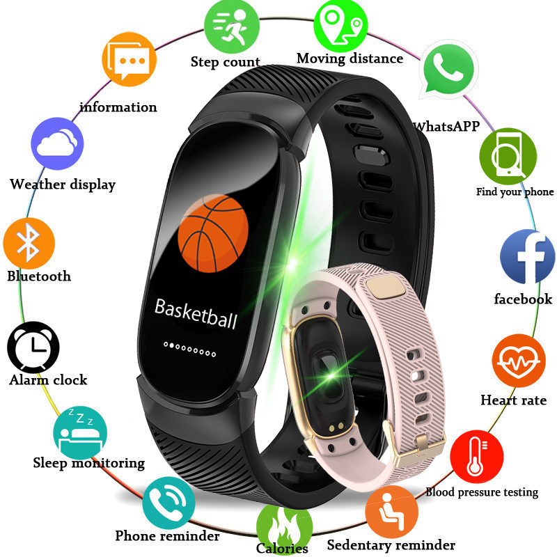 Watches Digital Watches Smart Wristband Fitness Bracelet Big Touch Screen Oled Message Display Heart Rate Time Smartband Ip68 Waterproof Smart Watch