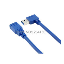 USB 3.0 A male 90 degree Left angle to A female extension convertor Cable For Computer Free Shipping