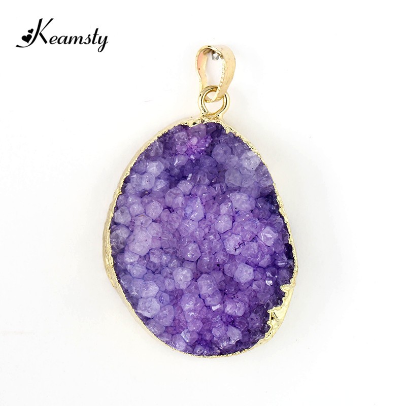 Keamsty new design natural freedom shape druzy pendants stone gold keamsty new design natural freedom shape druzy pendants stone gold edged rock crystal pendants rt 051ab 5pcslot in pendant necklaces from jewelry mozeypictures Image collections