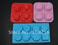 Verde 100% Alimentos Torta del Silicón del Grado Del Molde/Muffin Cupcake Pan 3 unids/set Kitty y Mickey Mouse y Flowertypes Moldes