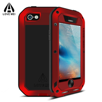 For IPhone 5S Case With Tempered Glass Life Waterproof Shockproof Metal Aluminum Cases For IPhone 5