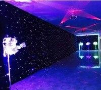 Синий светодио дный белый светодиод сценическая драпировка светодиодное настенное полотно фон задний план экран с контроллером для свадьб
