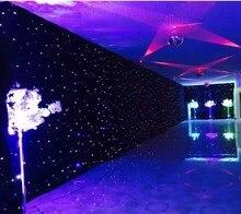 Синий светодио дный белый светодиод сценическая драпировка светодиодное настенное полотно фон задний план экран с контроллером для свадьбы рождественской вечеринки специально