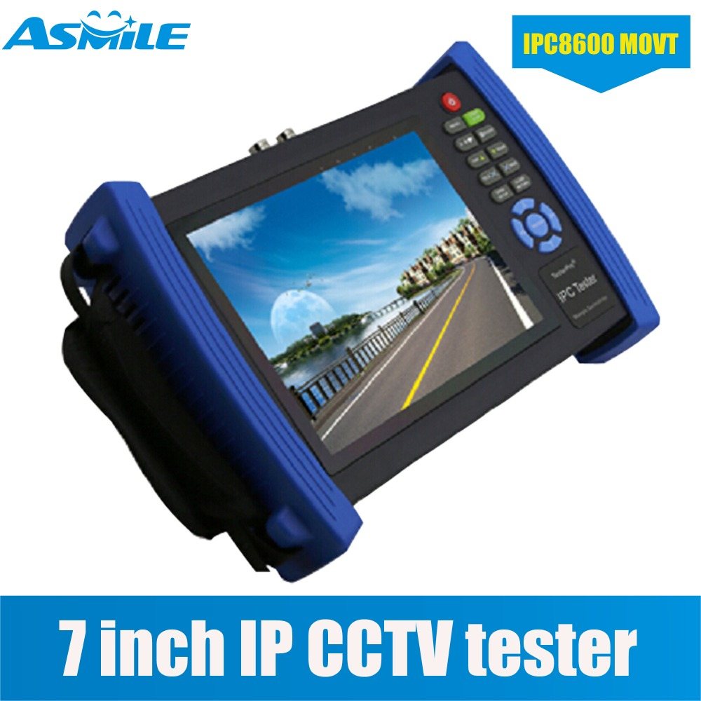 7 Inch Display IP Camera Tester CCTV Tester CVBS Analog Tester with POE/IP discovery IPC8600MOVT