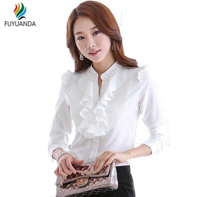 ae04f41b95f Blusa de uniforme Para Señoras de la Oficina 2017 Del Verano de La Vendimia  Elegante Estilo