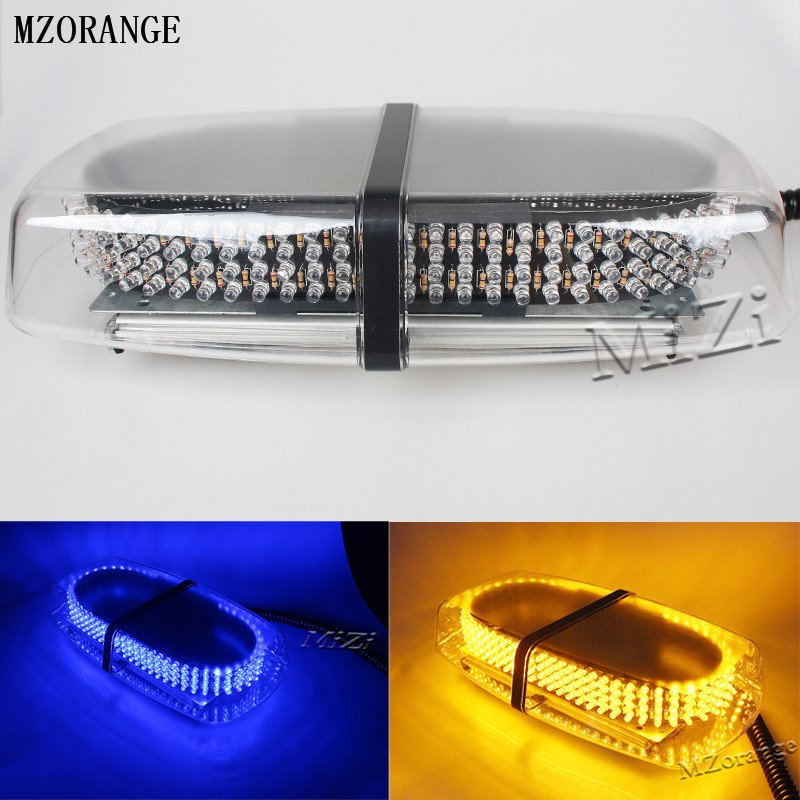 MZORANGE 240 LED Amber Yellow Magnetic base Car Roof Flashing Strobe Emergency Light 240LED Police Beacons Warning Lighting Lamp car led spotlight cree automotive short animated film spotlights roof lighting roof lamp dc10 40v