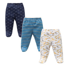 3PCS/Lot Spring Autumn Footed Baby Pants 100% Cotton Baby Girls Boys Clothes Unisex Casual Bottom PP Pants Newborn Baby Clothing