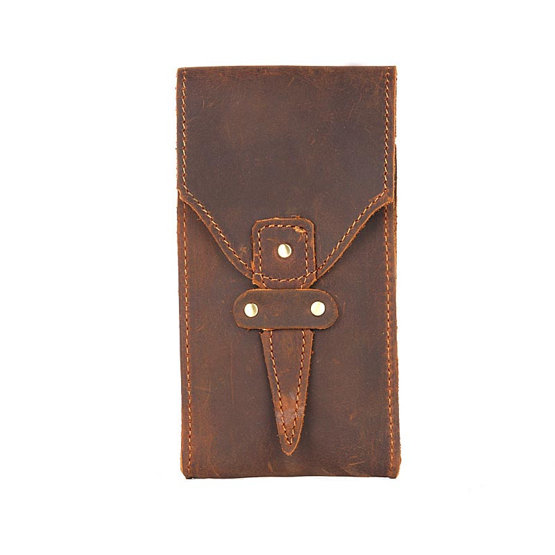 Hand Document Bag Mini File Folder Hand Made Genuine Leather Cowhide File Holder Business Supplies
