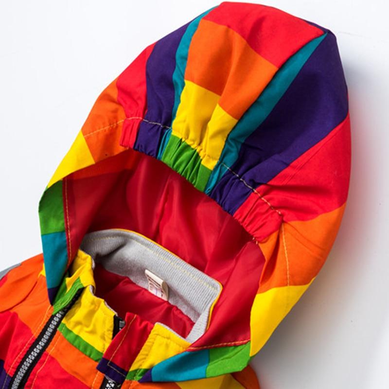 Baby Girl Jacket Boy Hooded Coat Solskyddsmedel Kläder Rainbow - Barnkläder - Foto 4