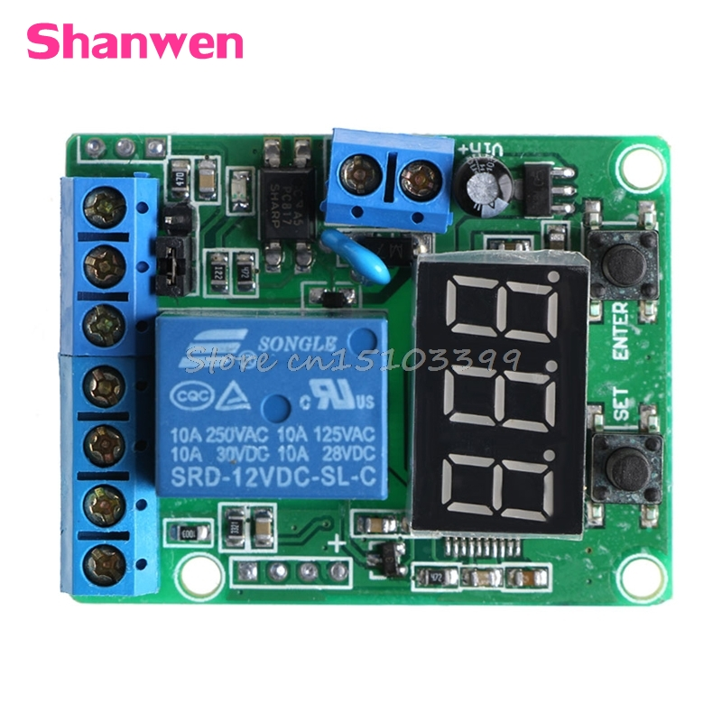 DC Relay Module Control Board 12V Switch Load Voltage protective Detection Test #G205M# Best Quality overcurrent protection switch module current detection board 12v 10a for dc motors short curcuid self stalled overload detection