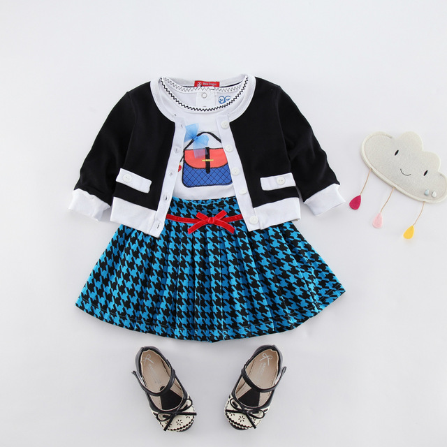 42fbc02d4 kids clothes brands atuumn kids skirt suit girl full girls clothing sets  winter plaid clothing set