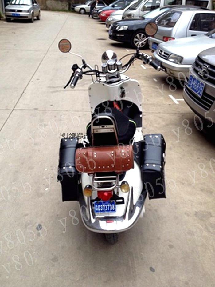 Brown Motorcycle Tool Bag Fork Handlebar Buckle Bags For Street