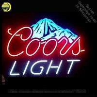 Coors Light Montanha de Neve Tubo De Vidro Sinal de Néon Sinal lâmpada de néon luzes de néon Recreação RoomProfessiona Icônico Lâmpadas de Sinal de Propaganda|Lâmpadas de néon e tubos| |  -