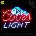 Coors lumière neige montagne néon signe néon ampoule panneau verre Tube néon lumières loisirs RoomProfessiona emblématique signe annonce lampes