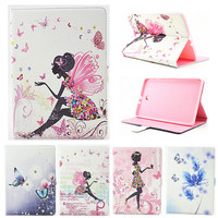 For Samsung Galaxy Tab E 9 6 T560 T561 Case Girl Bling Butterfly PU Leather Book