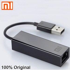 Image 1 - מקורי שיאו mi USB כדי RJ45 חיצוני Ethernet כרטיס מתאם 10/100Mbps עבור Mi תיבת S 3C / 3S 4 4C SE מחשב נייד מחשב נייד usb2.0