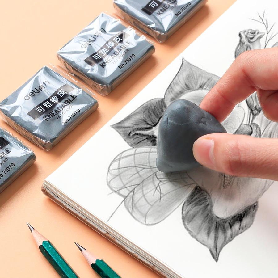 1pcs Plasticity Soft Rubber Eraser Student Drawing Sketch Highlight Novelty Plasticine Pencil Eraser Art Supplies Stationery