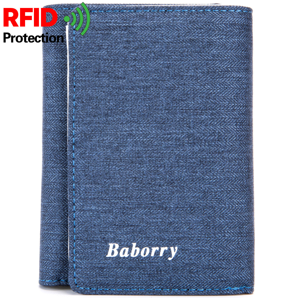 2018 RFID Protection Men Male Teens Short Trifold Casual Fashion Wallets And Purse With Zipper Coin Pouch Credit Bank Card Case men teens fashion cool purse american