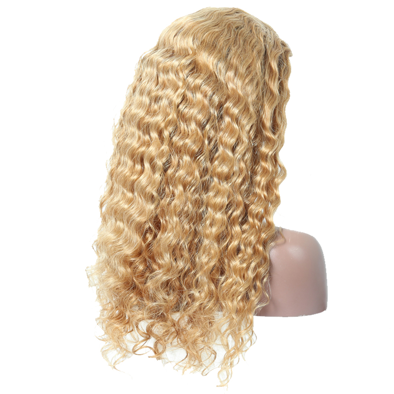 Colorful 250 High Density Lace Front Human Hair Wigs #27 Deep Wave Brazilian Remy Wig With Baby Hair Venvee