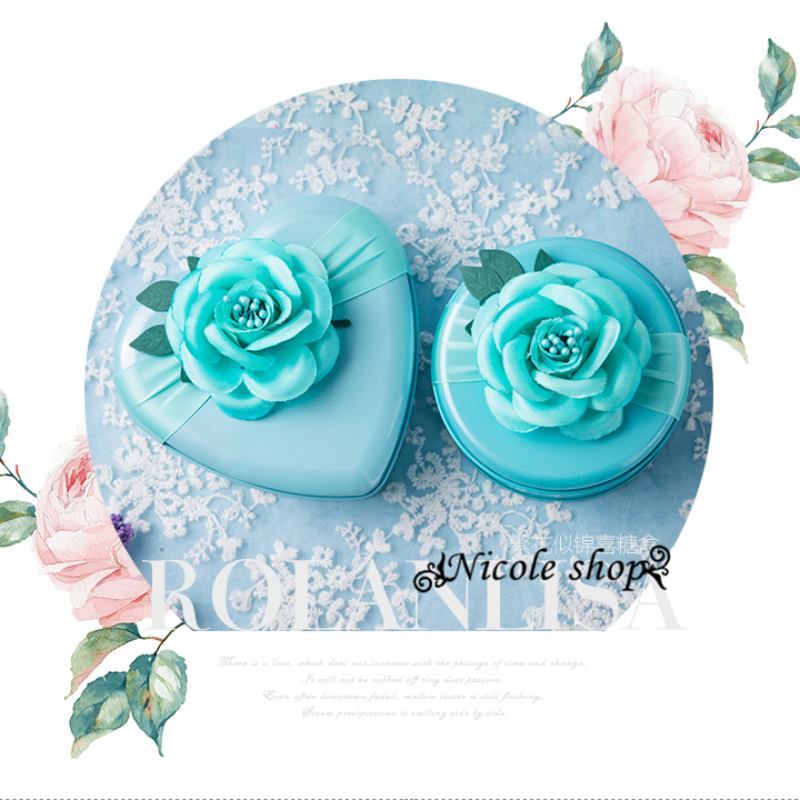 30psc New Tin Tiffany blue Pink Gift Box wedding candy box souvenir boxes gift bag decoration table wedding favors and gifts