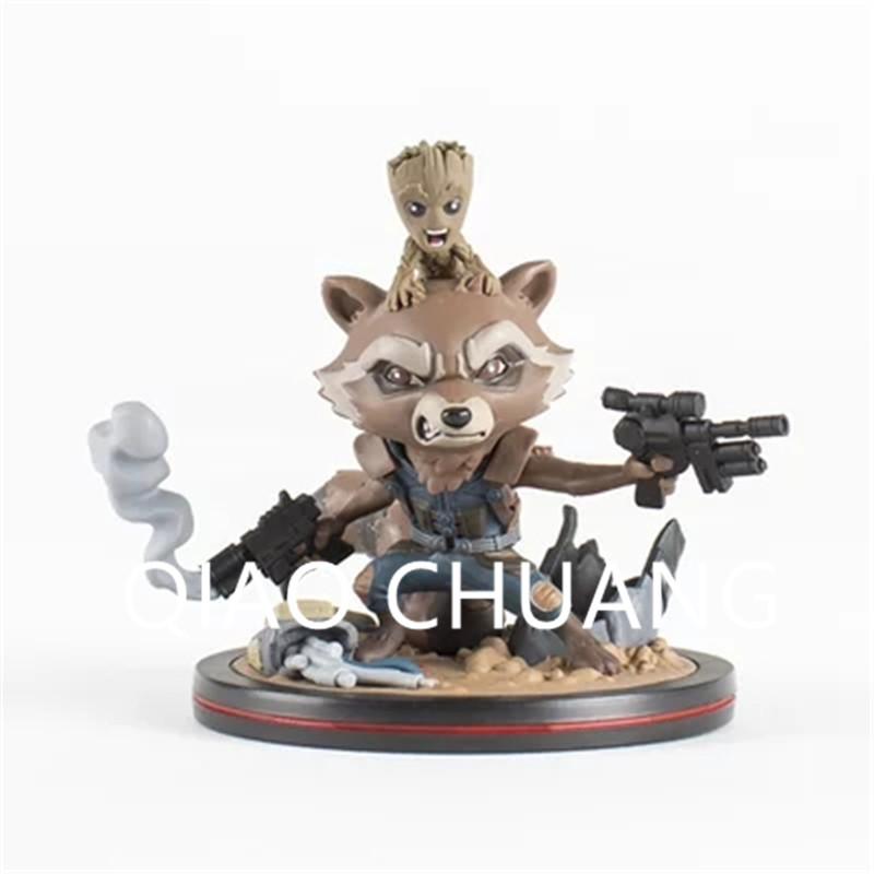 The Avengers 3 The Bounty Hunter Q Version Rocket Raccoon Groot Guardians Of The Galaxy PVC Action Figure Bambola G1175