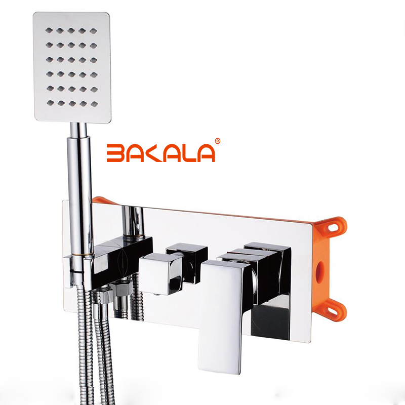 HTB1i.86pNSYBuNjSsphq6zGvVXaR BAKALA New product Hot and cold shower Brass In Wall shower 2 function dark shower set Bathroom stainless steel shower faucet