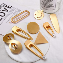 Gold Silver Color Hairpin For Women Punk Geometric Infinite Hair Clips Hairwear Bridal 2019 New Fashion Jewelry Accessories