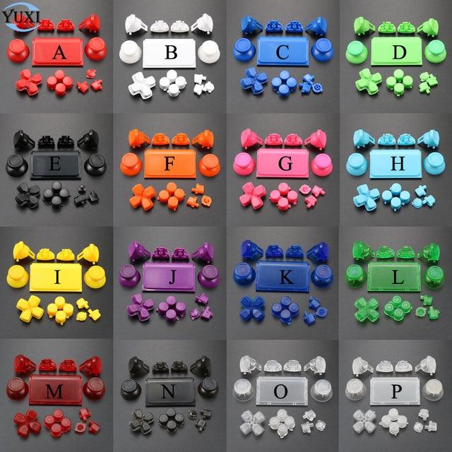 YuXi 풀 세트 조이스틱 Dpad R1 L1 R2 L2 방향 키 ABXY 버튼 jds 040 jds 040 Sony PS4 Pro 슬림 컨트롤러 용