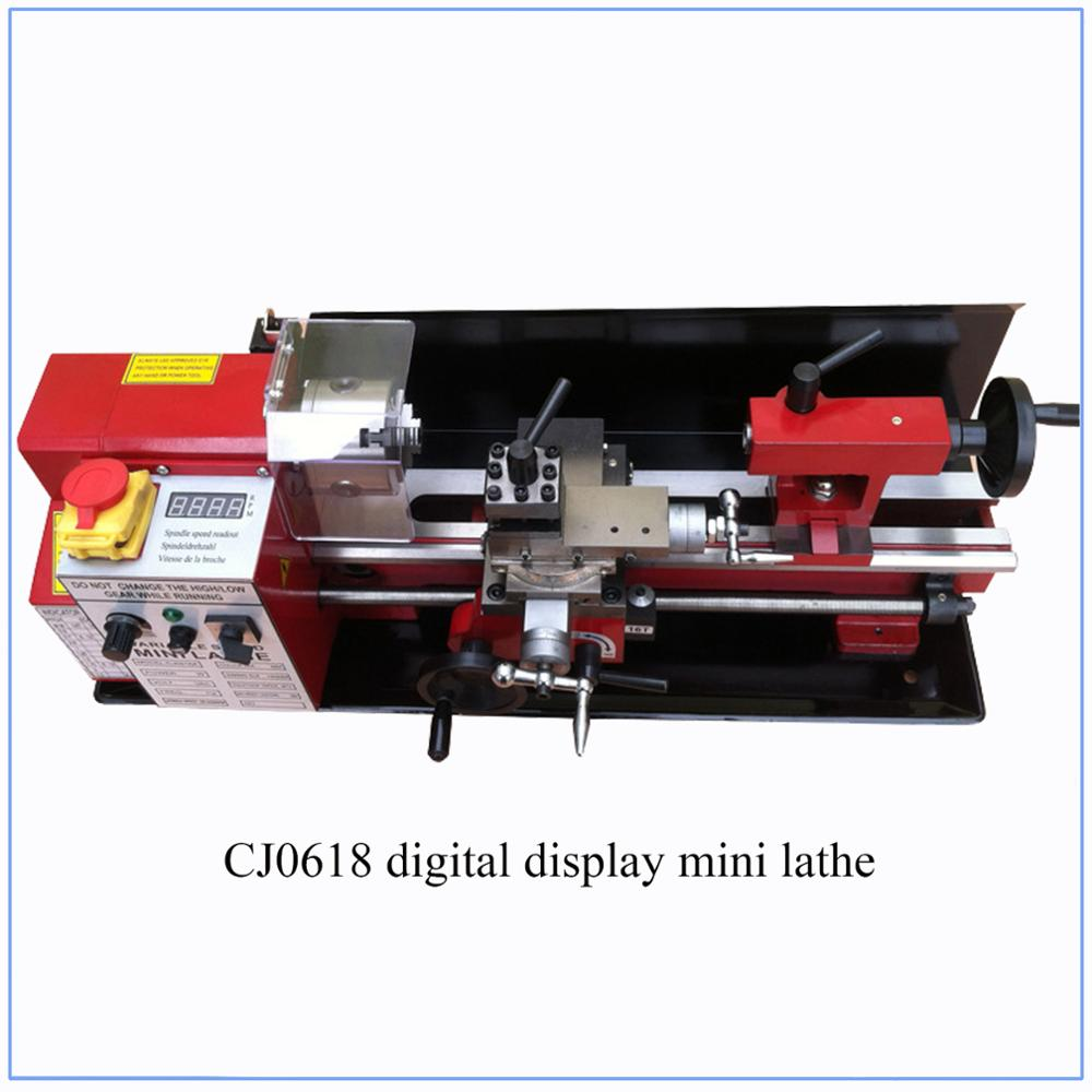 All Metal Gears Mini Lathe Mini Cnc Turning Lathe Machine Digital Display 32mm Spindle Hole