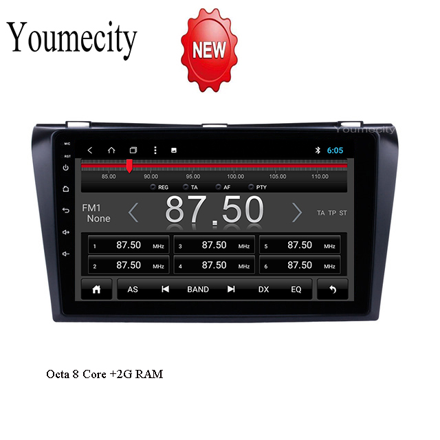 Octa 8 Core Car DVD Player for Mazda 3 2006 2007 2008 9 inch Android 8