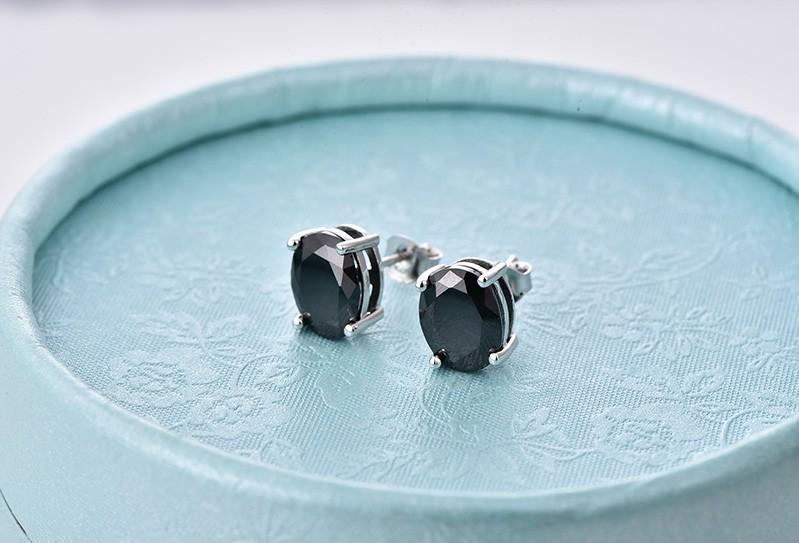 black stud earrings ,hot sale new earrings for women black NE79200F (7)