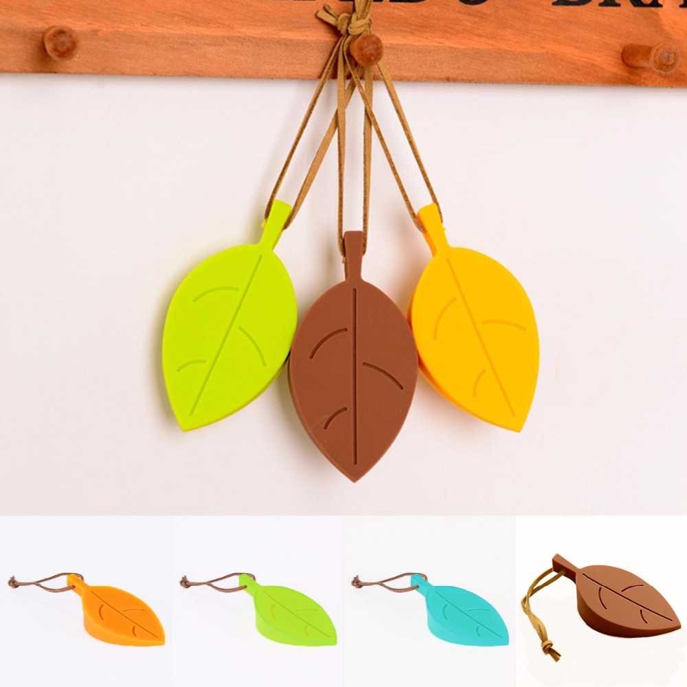 Nosii Leaf Shape Soft Silicone Doorstop Door Stop Stopper Wedge Child Baby Safety Hanging Storage nosii window door restrictor child baby safety security cable lock catch wire