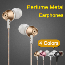 High Quality 3.5mm Metal Earphone Noise Canceling Headphone Perfume Bass Headset Hifi Earbuds with mic for iPhone Phone MP3