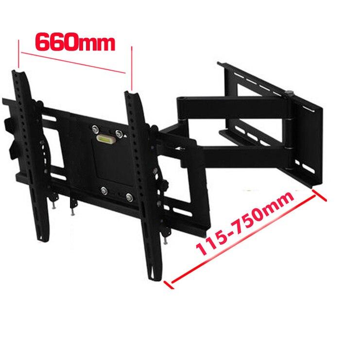 DL-WA-66 60kg 60inch 55inch 46inch retractable swivel LCD wall PLASMA fold full