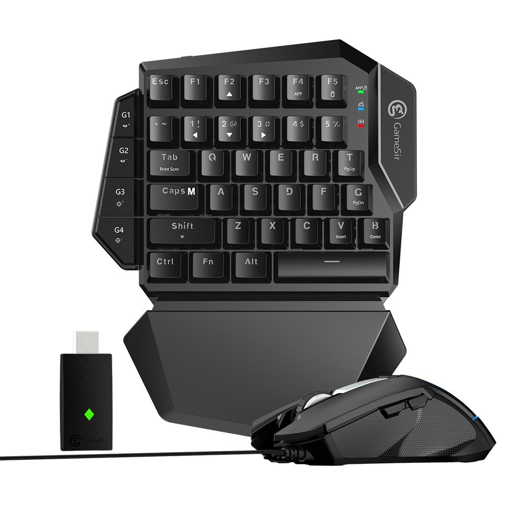 GameSir VX AimSwitch Sans Fil clavier Filaire souris, Pour toutes les consoles jouer FPS Jeux (Pour PS4, PS3, xbox Un, Commutateur, PC)