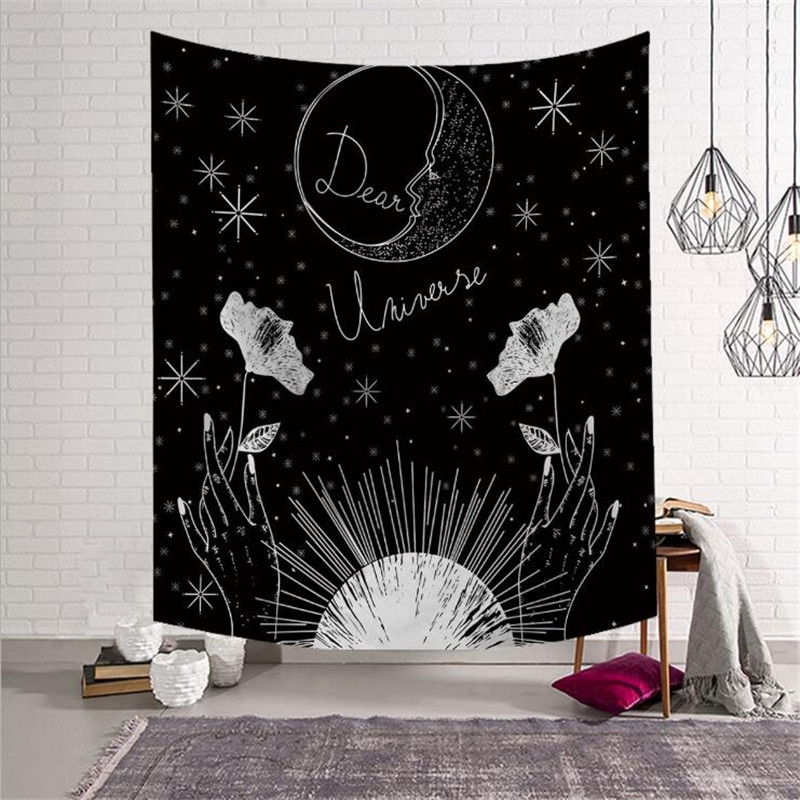 Ornaments Symbol Of The Brand Vintage European Wall Hangings Witchcraft Tapestry Sun Moon Star Dorm Room Headboard Arras Carpet Astrology Blanket