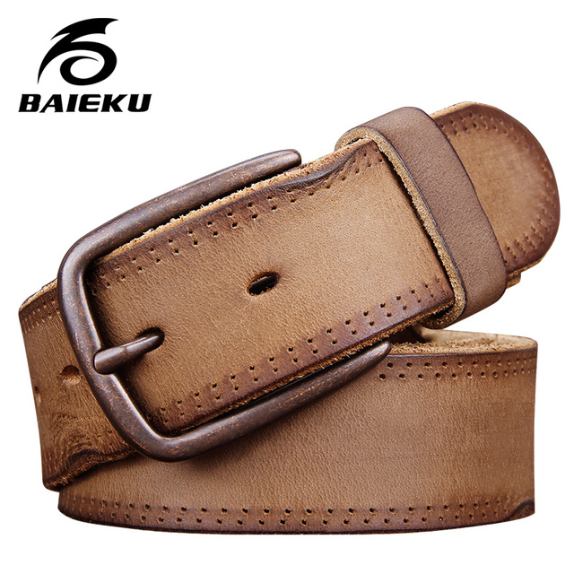 70f34d51c7a BAIEKU Personality retro leather belt Both men and women style-in ...