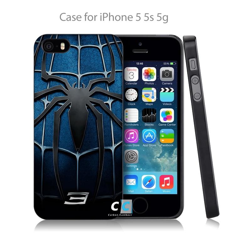 <font><b>Spider</b></font> <font><b>Man</b></font> <font><b>3</b></font> Blue Chest <font><b>Logo</b></font> Hard Black <font><b>Case</b></font> Cover Shell Coque <font><b>for</b></font> <font><b>iPhone</b></font> 4 4s 4g 5 5s 5g 5c <font><b>6</b></font> 6g <font><b>6</b></font> Plus