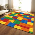 Современный яркий коврик для спальни  детская комната  игровой коврик  коврик фланелевый с эффектом памяти  большой ковер для гостиной  дома...